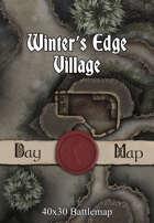 40x30 Battlemap - Winter's Edge Village