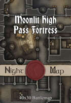 40x30 Battlemap - Moonlit High Pass Fortress