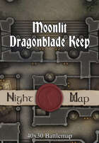 40x30 Battlemap - Moonlit Dragonblade Keep