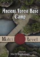30x20 Multi-Level Battlemap - Ancient Forest Base Camp