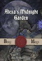 40x30 Battlemap - Alexa's Midnight Garden