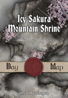40x30 Battlemap - Icy Sakura Mountain Shrine