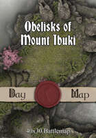 40x30 Battlemap - Obelisks of Mount Ibuki