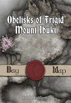 40x30 Battlemap - Obelisks of Frigid Mount Ibuki