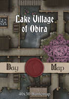 40x30 Battlemap - Lake Village of Obira