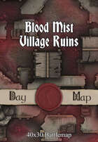 40x30 Battlemap - Blood Mist Village Ruins