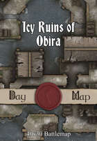 40x30 Battlemap - Icy Ruins of Obira