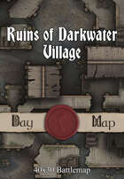 40x30 Battlemap - Ruins of Darkwater Village