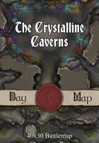 40x30 Battlemap - The Crystalline Caverns