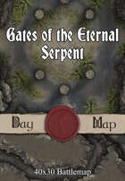 40x30 Battlemap - Gates of the Eternal Serpent