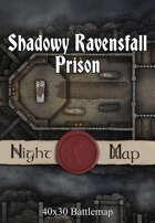 40x30 Battlemap - Shadowy Ravensfall Prison