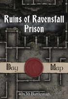 40x30 Battlemap - Ruins of Ravensfall Prison