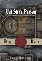 40x30 Battlemap - Val'Skar Prison