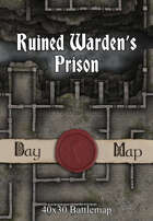 40x30 Battlemap - Ruined Warden's Prison
