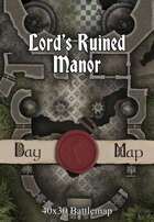 40x30 Battlemap - Lord's Ruined Manor