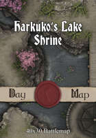40x30 Battlemap - Harkuko's Lake Shrine