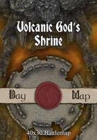 40x30 Battlemap - Volcanic God's Shrine