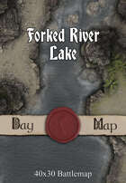 40x30 Battlemap - Forked River Lake