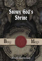 40x30 Battlemap - Snowy God's Shrine