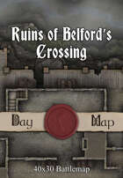 40x30 Multi-Level Battlemap - Ruins of Belford's Crossing