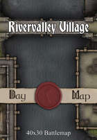 40x30 Multi-Level Battlemap - Rivervalley Village