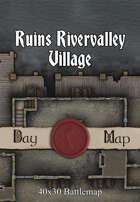 40x30 Multi-Level Battlemap - Ruins Rivervalley Village