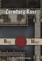 40x30 Multi-Level Battlemap -  Turmburg River