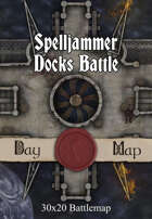 30x20 Battlemap - Spelljammer Docks Battle