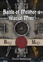30x20 Battlemap - Battle of Melthor 4 Glacial Mine