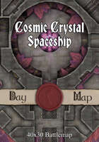 40x30 Battlemap - Cosmic Crystal Spaceship