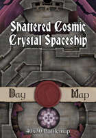 40x30 Battlemap - Shattered Cosmic Crystal Spaceship