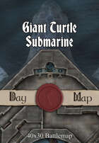 40x30 Battlemap - Giant Turtle Submarine