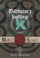 40x30 Multi-Level Battlemap - Malthazar's Soulforge