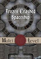 40x30 Multi-Level Battlemap - Frozen Crashed Spaceship