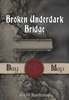 40x30 Battlemap -  Broken Underdark Bridge