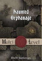 40x30 Multi-Level Battlemap - Haunted Orphanage