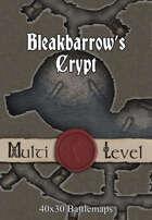 40x30 Multi-Level Battlemap - Bleakbarrow's Crypt
