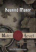 40x30 Multi-Level Battlemap - Haunted Manor