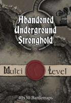 40x30 Multi-Level Battlemap - Abandoned Underground Stronghold
