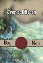 40x30 Battlemap - Tropical Beach