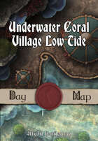40x30 Battlemap - Underwater Coral Village Low Tide
