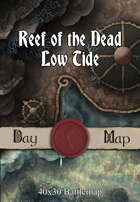 40x30 Battlemap -  Reef of the Dead Low Tide