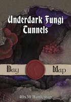 40x30 Battlemap - Underdark Fungi Tunnels
