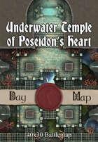 40x30 Battlemap - Underwater Temple of Poseidon's Heart