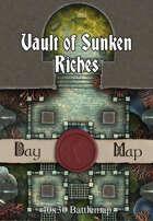 40x30 Battlemap - Vault of Sunken Riches