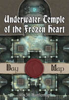 40x30 Battlemap - Underwater Temple of the Frozen Heart