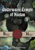 40x30 Battlemap - Underwater Temple of Koolan