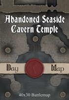 40x30 Battlemap - Abandoned Seaside Cavern Temple