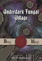 40x30 Battlemap - Underdark Fungal Village