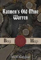 40x30 Battlemap - Ratmen's Old Mine Warren